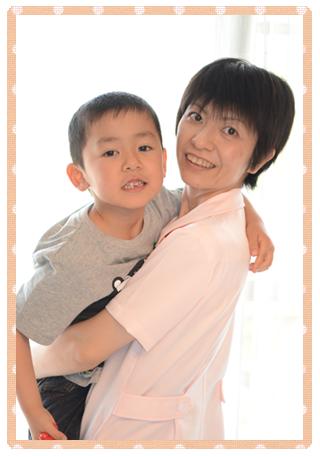 小川亜希子親子写真